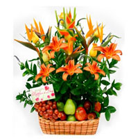 Fruit and Flowers Basket for Mom - España